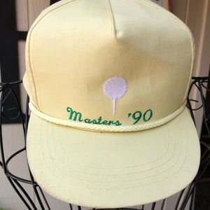 vintage 1990 Masters Golf Tournament golf hat/cap